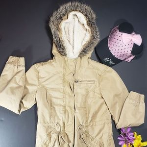 Forever 21 Mid Length Tan Utility Coat